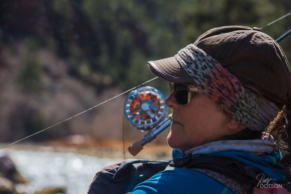 Pushing a last cast into the target zone of trout feeding on emerging BWO's.