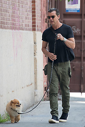 EXCLUSIVE: Gavin Rossdale is seen walking his beloved dog, Chewy in the West Village neighborhood of New York. 11 Aug 2017 Pictured: Gavin Rossdale. Photo credit: MEGA TheMegaAgency.com +1 888 505 6342