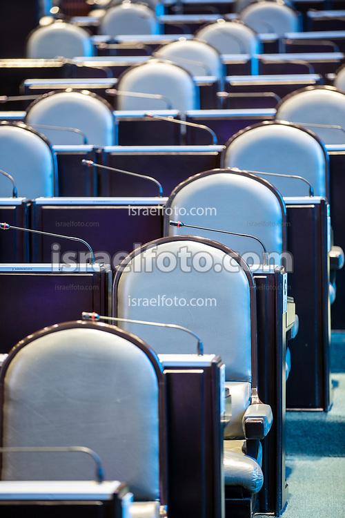 28 de agosto de 2020. Ciudad de México. Curules al interior de la cámara de diputados  /  Deputies seats at the chamber of deputies