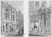 Waterman's Hall and Painter Stainer's Hall, engraving 'Metropolitan Improvements, or London in the Nineteenth Century' London, England, UK 1828 , drawn by Thomas H Shepherd