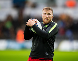 Jackson Wray of Saracens during the pre match warm up<br /> <br /> Photographer Simon King/Replay Images<br /> <br /> European Rugby Champions Cup Round 5 - Ospreys v Saracens - Saturday 11th January 2020 - Liberty Stadium - Swansea<br /> <br /> World Copyright © Replay Images . All rights reserved. info@replayimages.co.uk - http://replayimages.co.uk