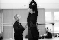 Natalia Makarova coaching Darcey Bussell for the role of Nikiya in the Royal Ballet's production of La Bayadere.