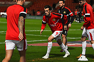 John Marquis of Doncaster Rovers (9) warming up during the EFL Sky Bet League 1 match between Doncaster Rovers and Sunderland at the Keepmoat Stadium, Doncaster, England on 23 October 2018.