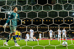 November 20, 2018 - Stockholm, SVERIGE - 181120 Goalkeeper Andrei Lunev of Russia looks dejected after Sweden's 1-0 during the Nations League football match between Sweden and Russia on November 20, 2018 in Stockholm. (Credit Image: © Andreas L Eriksson/Bildbyran via ZUMA Press)