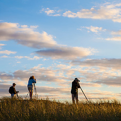 Photographres atop the Provinceland Dunes in Cape Cod National Seashore in Provincetown, Massachusetts.
