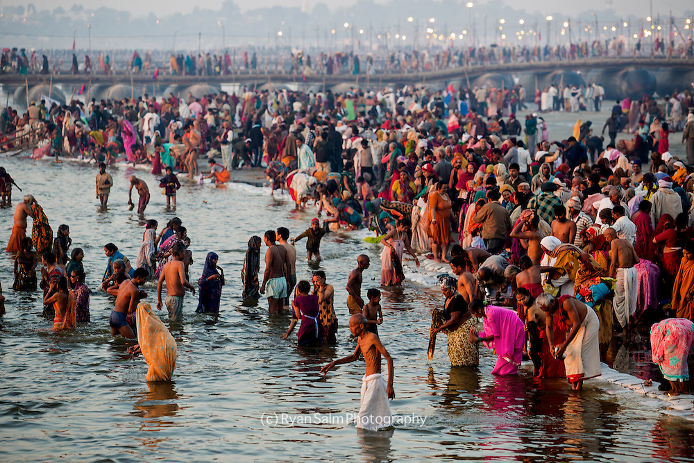 Millions take a dip in the Holy Ganges River on Hinduism's most auspicious day. It is said that on February 10th, some 40 million people bathed in the Ganges. Kumbh mela