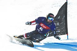 Lukas Mathies (AUT) during parallel giant slalom FIS Snowboard Alpine world championships 2021 on 1st of March 2021 on Rogla, Slovenia, Slovenia. Photo by Grega Valancic / Sportida