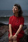 Liena Vayzman, Coney Island Beach, Brooklyn, New York, 9/17/2020. Photo by Luisa Madrid for the LaGuardia and Wagner Archives, LaGuardia CUNY.