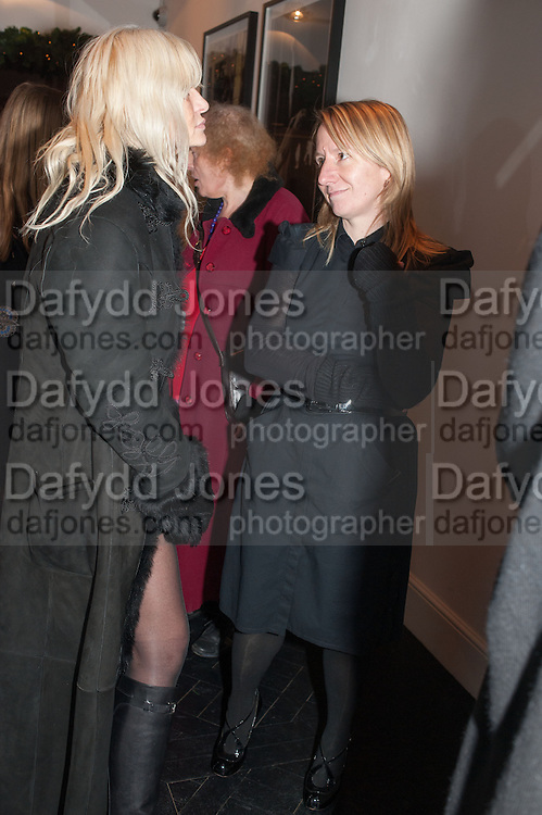 MARGARET DUVALL; CARRIE KANIA, Drag Queens, Rent Boys, Pick Pockets, Junkies, Rockstars and Punks,, Leee Black Childers ,  book launch and exhibition opening. <br />  The Vinyl Factory Chelsea, Walton St. London. 5 December 2012.