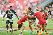Lomano Lemeki (JPN), APRIL 17, 2016 - Rugby : HSBC Sevens World Series, Singapore Sevens match Japan and Russia at National Stadium in Singapore. (Photo by Haruhiko Otsuka/AFLO)