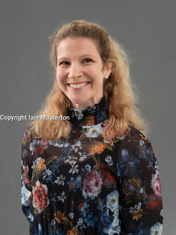 """Edinburgh, Scotland, UK; 19  August, 2018. Pictured; Author Lisa Halliday. Lisa Halliday's book """"Asymmetry"""" is about young and old, the personal, the political and the many faces of migration."""