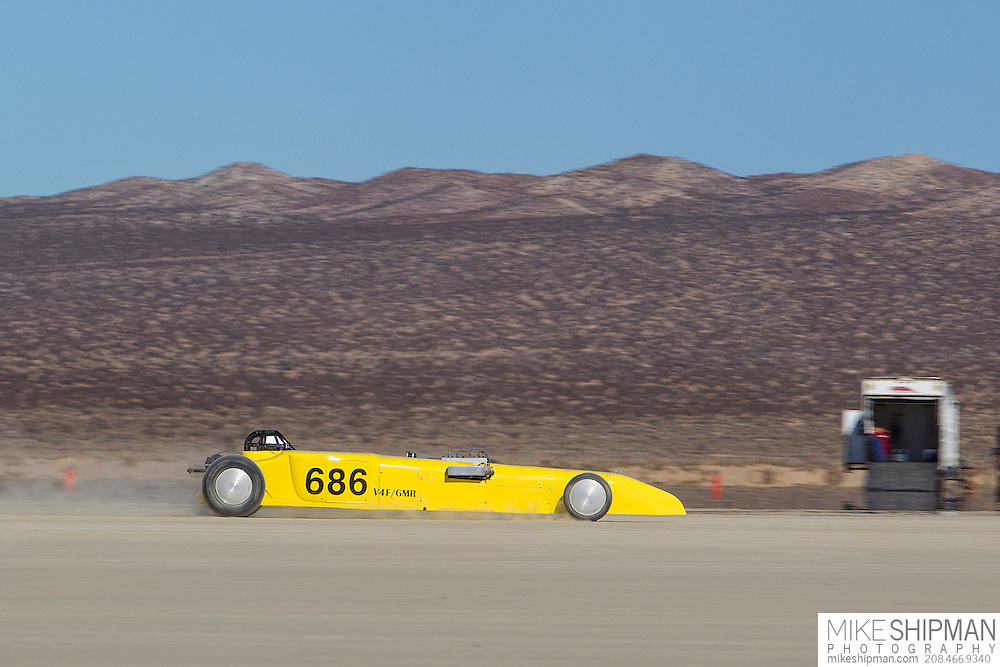Creel-Nelson-Yacoucci, 686, eng V4F, body GMR, driver Rick Yacoucci, 126.843 mph, record 133.198