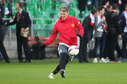 Bastian Schweinsteiger Midfielder of Manchester United in warm up during the Europa League match between Saint-Etienne and Manchester United at Stade Geoffroy Guichard, Saint-Etienne, France on 22 February 2017. Photo by Phil Duncan.