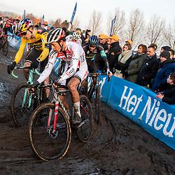 2019-12-27 Cycling: dvv verzekeringen trofee: Loenhout: Chasing the lead