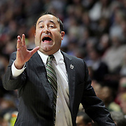 Jose Fernandez, Head Coach of USF Bulls, in action on the sideline during the UConn Huskies Vs USF  2016 American Athletic Conference Championships Final. Mohegan Sun Arena, Uncasville, Connecticut, USA. 7th March 2016. Photo Tim Clayton