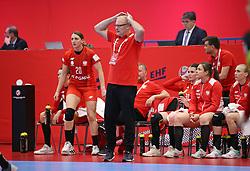 KOLDING, DENMARK - DECEMBER 5: Head coach Arne Senstad of Pland reacts during the EHF Euro 2020 Group D match between Poland and Romania in Sydbank Arena, Kolding, Denmark on December 5, 2020. Photo Credit: Allan Jensen/EVENTMEDIA.