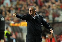 February 22, 2019 - Na - Lisbon, 21/02/2019 - SL Benfica received Galatasaray SK tonight at Est√°dio da Luz in the second qualifying round of the Europa League 2018/2019. Fatih Terim  (Credit Image: © Atlantico Press via ZUMA Wire)