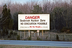 Seabrook Nuclear Zone Danger Sign