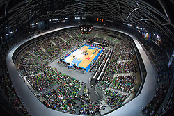 View on the court during friendly match between National teams of Slovenia and France for Eurobasket 2013 on August 31, 2013 in Arena Stozice, Ljubljana, Slovenia. (Photo by Matic Klansek Velej / Sportida.com)