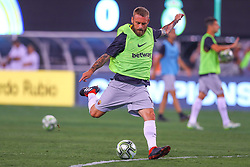 August 7, 2018 - East Rutherford, NJ, U.S. - EAST RUTHERFORD, NJ - AUGUST 07:  Roma midfielder Daniele De Rossi (16) warms up prior to the International Champions Cup game between Real Madrid and AS Roma on August 7, 2018, at Met Life Stadium in East Rutherford, NJ.  (Photo by Rich Graessle/Icon Sportswire) (Credit Image: © Rich Graessle/Icon SMI via ZUMA Press)