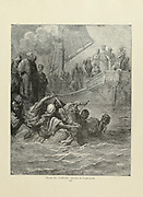 Death of [Sultan] Almoadam Plate LXXVIII from the book Story of the crusades. with a magnificent gallery of one hundred full-page engravings by the world-renowned artist, Gustave Doré [Gustave Dore] by Boyd, James P. (James Penny), 1836-1910. Published in Philadelphia 1892