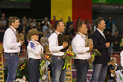 Team USA, Andrea Fappani, Jordan Larson, Mandy Mccutcheon, Shawn Flarida - Team Competition and 1st individual qualifying  - Alltech FEI World Equestrian Games™ 2014 - Normandy, France.<br /> © Hippo Foto Team - Dirk Caremans<br /> 25/06/14