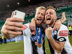 09.05.2018, Woerthersee Stadion, Klagenfurt, AUT, OeFB Uniqa Cup, SK Puntigamer Sturm Graz vs FC Red Bull Salzburg, Finale, im Bild Peter Zulj (SK Puntigamer Sturm Graz), Jakob Jantscher (SK Puntigamer Sturm Graz) // during the final match of the ÖFB Uniqa Cup between SK Puntigamer Sturm Graz and FC Red Bull Salzburg at the Woerthersee Stadion in Klagenfurt, Austria on 2018/05/09. EXPA Pictures © 2018, PhotoCredit: EXPA/ Johann Groder