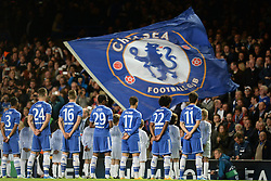 18.09.2013, Stamford Bridge, London, ENG, UEFA Champions League, FC Chelsea vs FC Basel, Gruppe E, im Bild Chelsea players line up during UEFA Champions League group E match between FC Chelsea and FC Basel at the Stamford Bridge, London, United Kingdom on 2013/09/18. EXPA Pictures © 2013, PhotoCredit: EXPA/ Mitchell Gunn <br /> <br /> ***** ATTENTION - OUT OF GBR *****