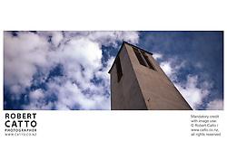 A church spire in Seatoun, Wellington, New Zealand.<br />