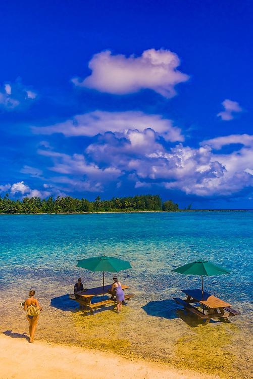 Haapiti Motu (a small private island) off Bora Bora, Society Islands, French Polynesia.