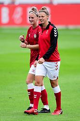 Jasmine Matthews of Bristol City and Yana Daniels of Bristol City prior to kick off  - Mandatory by-line: Ryan Hiscott/JMP - 06/09/2020 - FOOTBALL - Twerton Park - Bath, England - Bristol City Women v Everton Ladies - FA Women's Super League