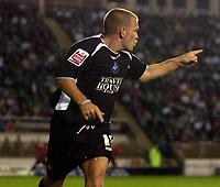 Photo: Alan Crowhurst.<br />MK Dons v Swansea. Coca Cola League 1.<br />13/09/2005. Swanseas Andy Robinson celebrates his first goal.