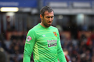 Hull City Goalkeeper Allan McGregor looks on. Skybet football league Championship match, Burnley v Hull city at Turf Moor in Burnley ,Lancs on Saturday 6th February 2016.<br /> pic by Chris Stading, Andrew Orchard sports photography.