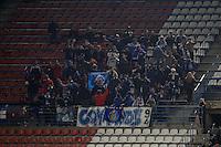 12.12.2012 SPAIN - Copa del Rey 12/13 Matchday 8th  match played between Atletico de Madrid vs Getafe C.F. (3-0) at Vicente Calderon stadium. The picture show Getafe C.F. fans