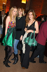 Left to right,  the HON.SOPHIA HESKETH, her sister the HON.FLORA HESKETH and KATE GOLDSMITH at a party to celebrate the 2nd anniversary of Quintessentially magazine held at Asprey, Bond Street, London on 24th February 2005.<br /><br />NON EXCLUSIVE - WORLD RIGHTS
