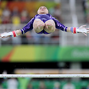 Gymnastics - Olympics: Day 2   Flavia Saraiva #316 of Brazil in action on the Women's Uneven Bars during the Artistic Gymnastics Women's Qualification round at the Rio Olympic Arena on August 7, 2016 in Rio de Janeiro, Brazil. (Photo by Tim Clayton/Corbis via Getty Images)