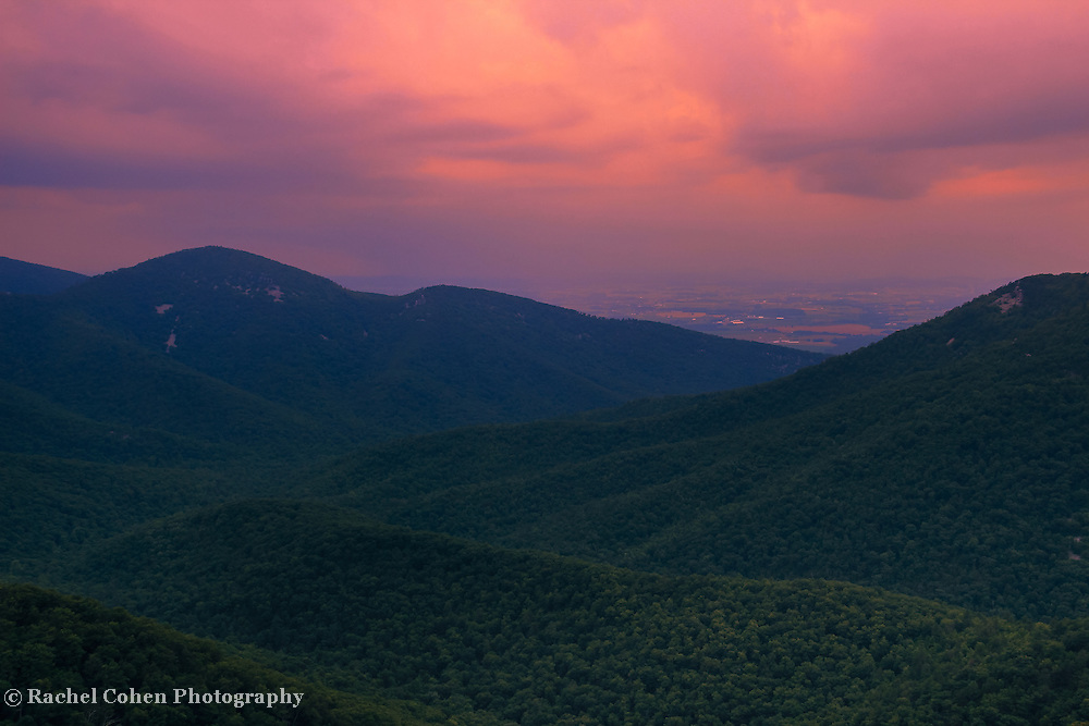 """""""Do you Believe""""<br /> <br /> Gorgeous colorful sunset over the Blue Ridge Mountains of Virginia, in the summertime!"""