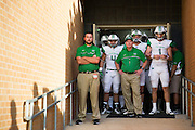 Marshall Thundering Herd head coach Doc Holliday prepares to take the field before kickoff against the North Texas Mean Green at Apogee Stadium in Denton, Texas on October 8, 2016. (Cooper Neill for The Herald-Dispatch)