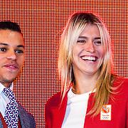 NLD/Scheveningen/20160713 - Perspresentatie sporters voor de Olympische Spelen 2016 in Rio de Janeiro, Jeffrey Wammes en Estavana Polman