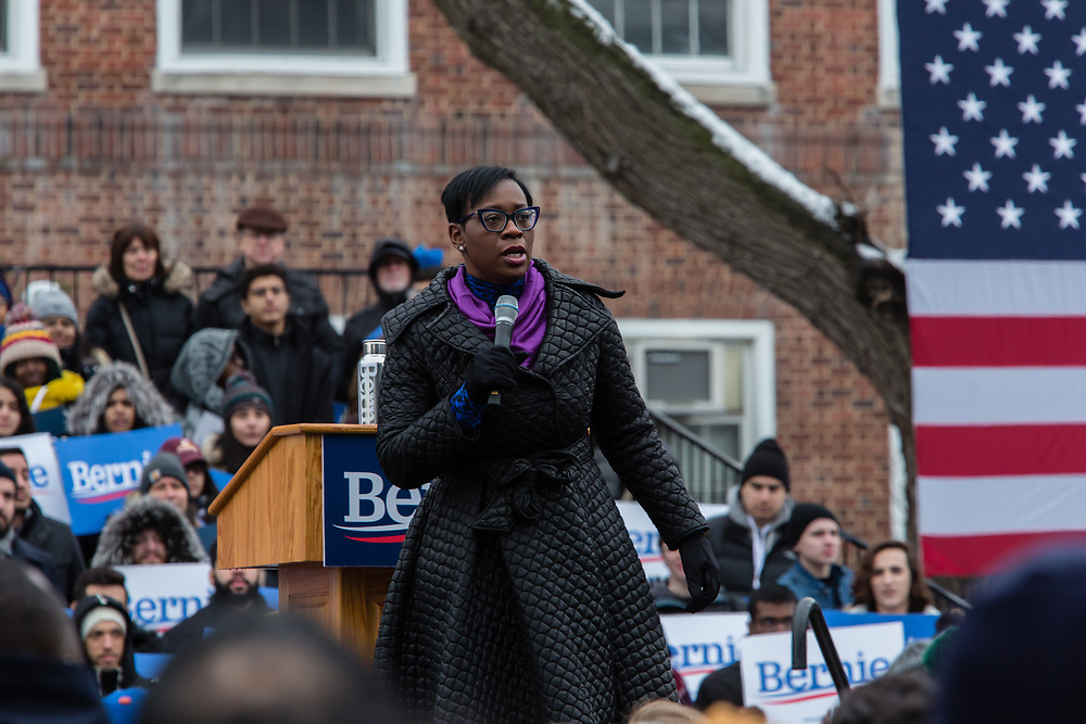 Brooklyn, NY - 2 March 2019. Ohio state senator Nina Turner speaking at Bernie Sanders' first rally for the 2020 presidential primary at Brooklyn College.