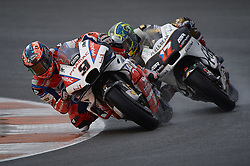 November 16, 2018 - Valencia, Spain - Danilo Petrucci (9) of Italy and Alma Pramac Racing Ducati abd Karel Abraham (17) of Czech Republic and Angel Nieto Team Ducati during the free practice during the Gran Premio Motul de la Comunitat Valenciana of world championship of MotoGP at Ricardo Tormo Circuit in Valencia, Spain on 16th Nov 2018  (Credit Image: © Jose Breton/NurPhoto via ZUMA Press)
