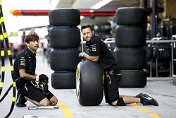 November 23, 2017 - Abu Dhabi, United Arab Emirates - Motorsports: FIA Formula One World Championship 2017, Grand Prix of Abu Dhabi, .mechanic of Mercedes AMG Petronas F1 Team  (Credit Image: © Hoch Zwei via ZUMA Wire)