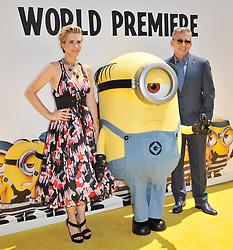 """(L-R) Kristen Wiig and Steve Carell together at the """"Despicable Me 3"""" Los Angeles Premiere held at the Shrine Auditorium in Los Angeles, CA on Saturday, June 24, 2017.  (Photo By Sthanlee B. Mirador) *** Please Use Credit from Credit Field ***"""