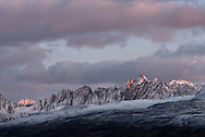 Peaks of the Chugach Mountains near Thompson Pass in Valdez, Alaska