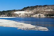 Spring ice on Ottawa River<br /> Temiskaming <br /> Quebec<br /> Canada