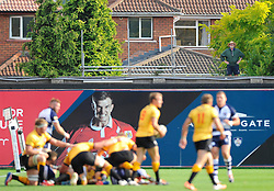 A neighbour watches the game from his shed  - Photo mandatory by-line: Joe Meredith/JMP - Mobile: 07966 386802 - 21/09/2014 - SPORT - FOOTBALL - Bristol - Ashton Gate - Bristol Rugby v Cornish Pirates - Greene King IPA Championship