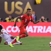 EAST RUTHERFORD, NEW JERSEY - JUNE 17: Andy Polo #8 of Peru in action during the Colombia Vs Peru Quarterfinal match of the Copa America Centenario USA 2016 Tournament at MetLife Stadium on June 17, 2016 in East Rutherford, New Jersey. (Photo by Tim Clayton/Corbis via Getty Images)
