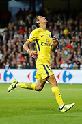 Angel Di Maria (psg) missed to score during the French championship L1 football match between EA Guingamp v Paris Saint-Germain, on August 13, 2017 at the Roudourou stadium in Guingamp, France - Photo Stephane Allaman / ProSportsImages / DPPI