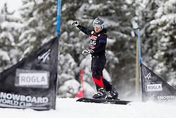 Jure Hafner of Slovenia during Qualification Run of FIS Snowboard World Cup Rogla 2013 in Parallel Giant slalom, on February 8, 2013 in Rogla, Slovenia. (Photo By Vid Ponikvar / Sportida.com)