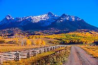 Last Dollar Road between Ridgway and Telluride, Colorado.